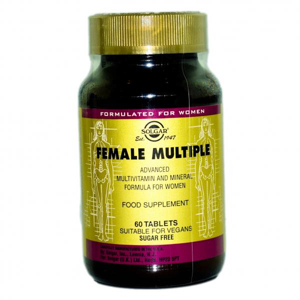 Multivitamine și minerale pentru femei Female Multiple, 60 tablete, Solgar 0