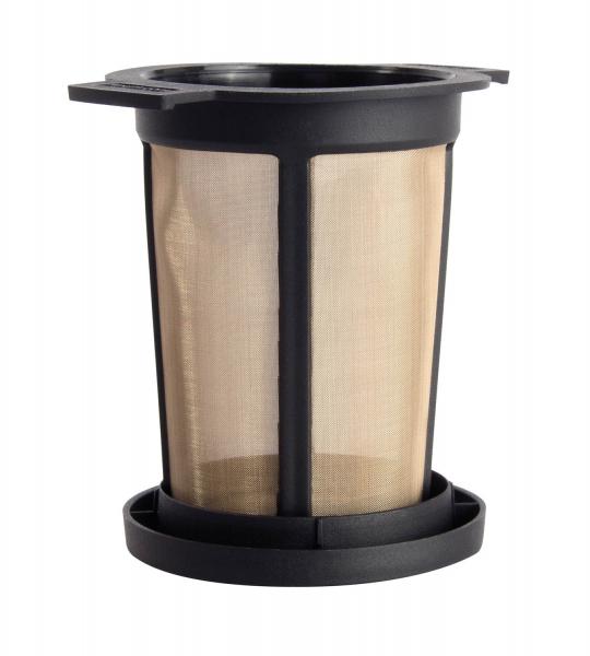 Filtru ceai permanent cu capac (negru) L 1