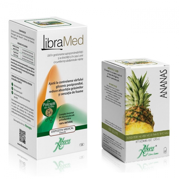 Pachet LibraMed, 138 comprimate + Ananas, 50 capsule, Aboca 0