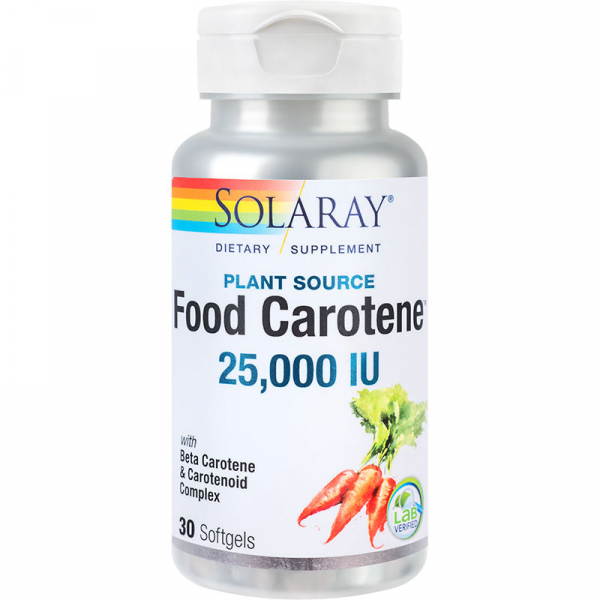 Food Carotene 25000UI Solaray, 30 capsule, Secom 0