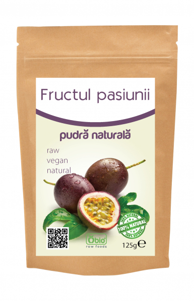 Fructul pasiunii pulbere raw 125g 0