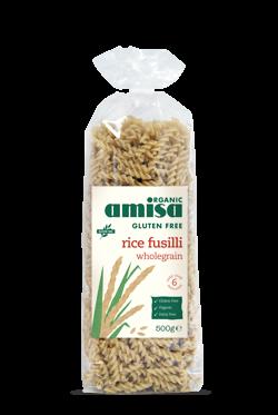 Fusilli din orez integral fara gluten bio 500g 0
