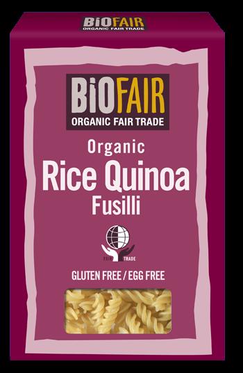 Fusilli din orez si quinoa fara gluten bio 250g 0