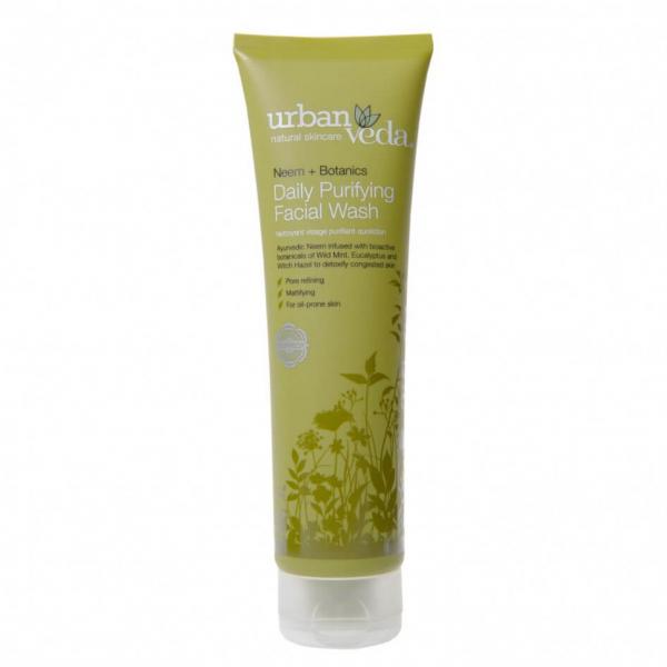 Gel de curatare facial cu ulei de neem pentru ten gras, Purifying - Urban Veda, 150 ml [0]