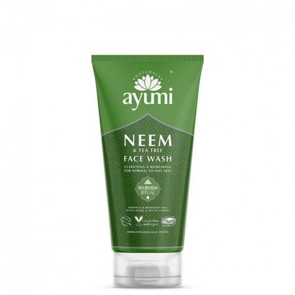 Gel de curatare faciala cu Neem Tea Tree, Ayumi, 150 ml [1]