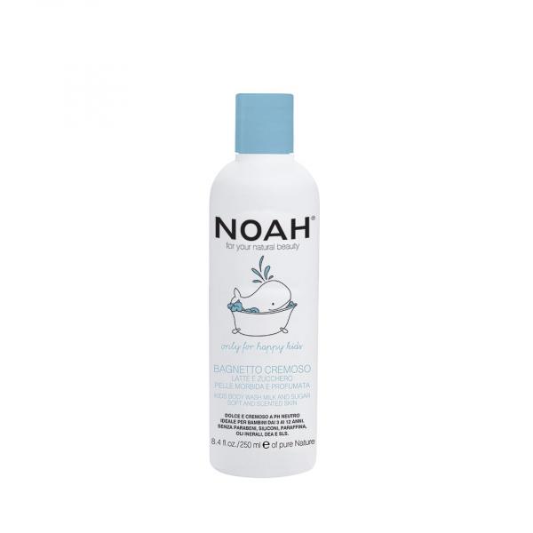 Gel de dus cremos cu lapte zahar pentru copii , Noah, 250 ml [0]