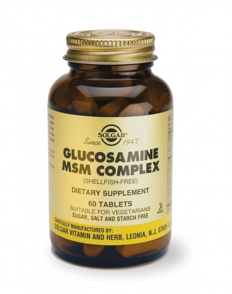 Complex Glucozamină MSM, 60 tablete, Solgar, 60cpr 0