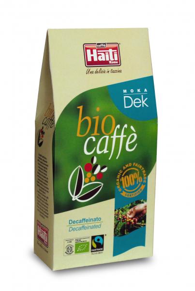 Cafea Bio arabica decofeinizata, Caffe' Haiti Roma, Moka Dek 250 gr 0