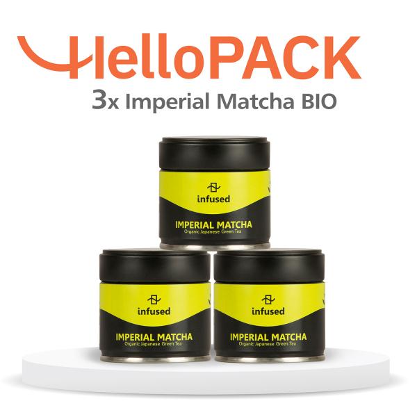 HelloPACK - 3 x Ceai Matcha BIO Imperial 0