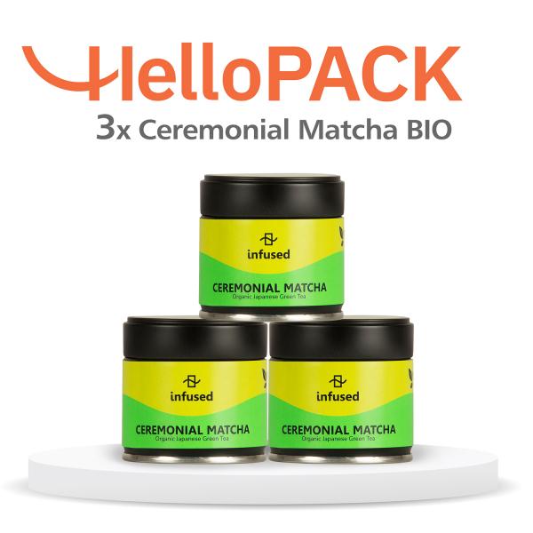 HelloPACK - 3 x Matcha BIO Ceremonial 0