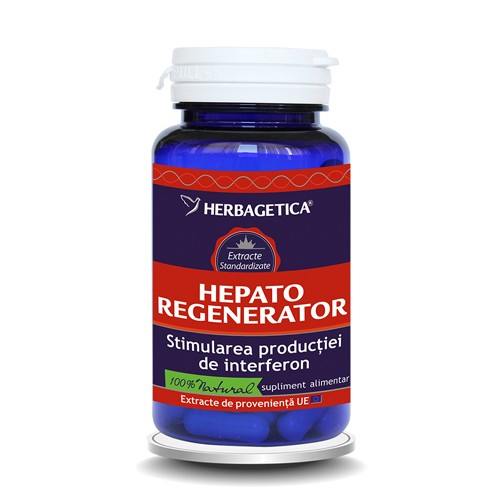 Hepato regenerator, 60 capsule, Herbagetica 0