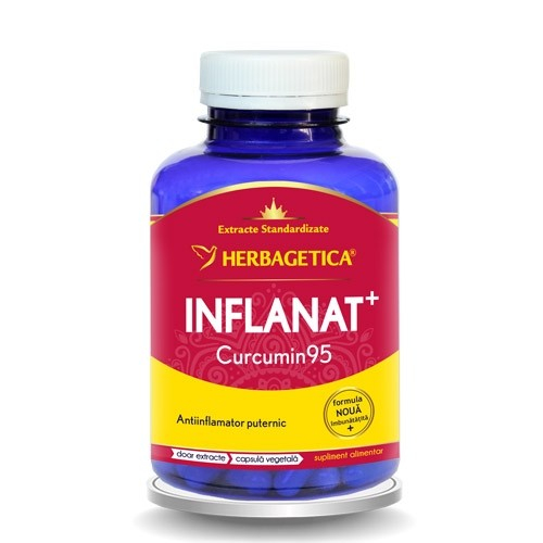 Inflanat+ curcumin 95, 120 capsule, Herbagetica 0