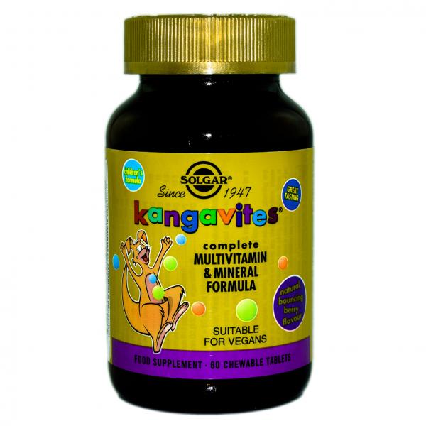 Multivitamine Kangavites, 60 tablete cu aroma de fructe de padure 0