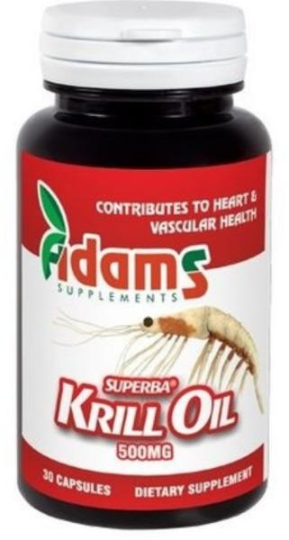 Krill oil 500mg, 30 tablete, Adams Vision 0