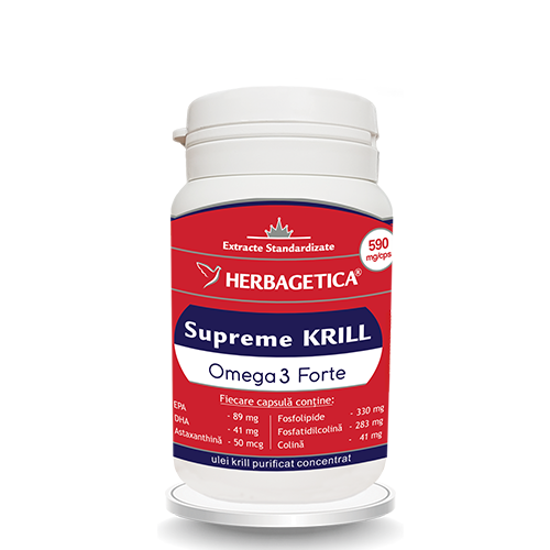 Krill oil supreme omega 3 forte, 30 capsule, Herbagetica [0]