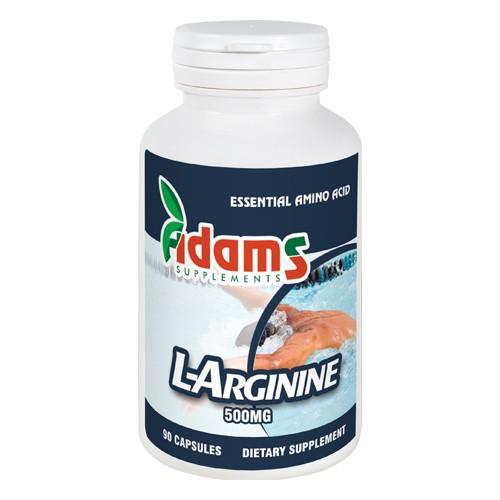 L-Arginine 500mg, 90 tablete, Adams Vision 0