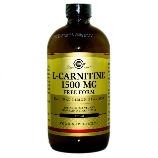 L-Carnitina lichida 1500 mg, 473 ml, Solgar 0