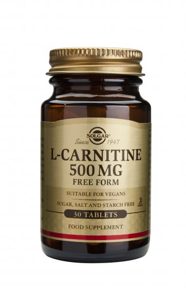 L-Carnitina 500 mg, 30 tablete, Solgar 0