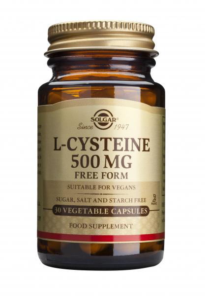 L-Cisteină 500 mg, 30 capsule, Solgar 0