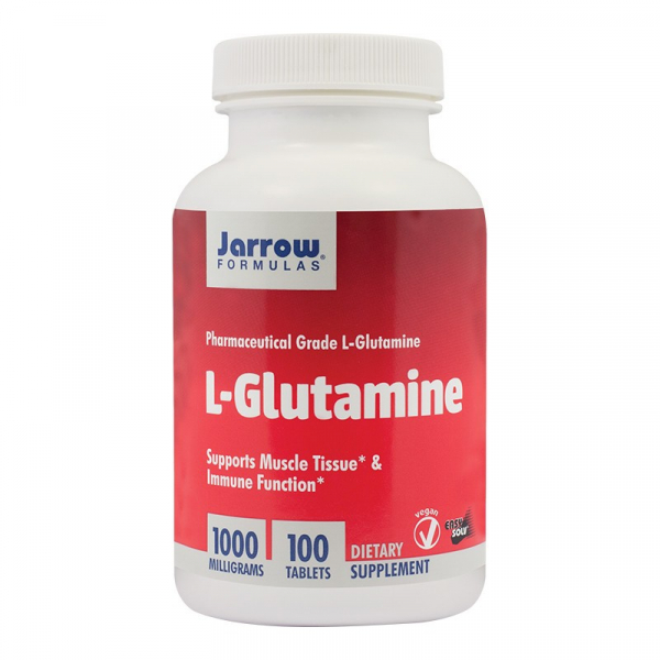L-Glutamine 1000mg, Jarrow Formulas, 100 tablete, Secom 0