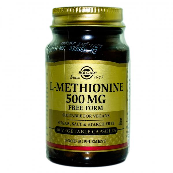 L-Metionina 500 mg, 30 capsule, Solgar 0