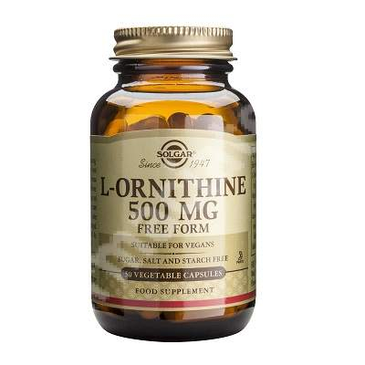 L-Ornitină 500 mg, 50 capsule, Solgar 0