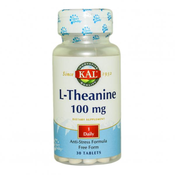 L-Theanine 100mg Kal, 30 tablete, Secom 0