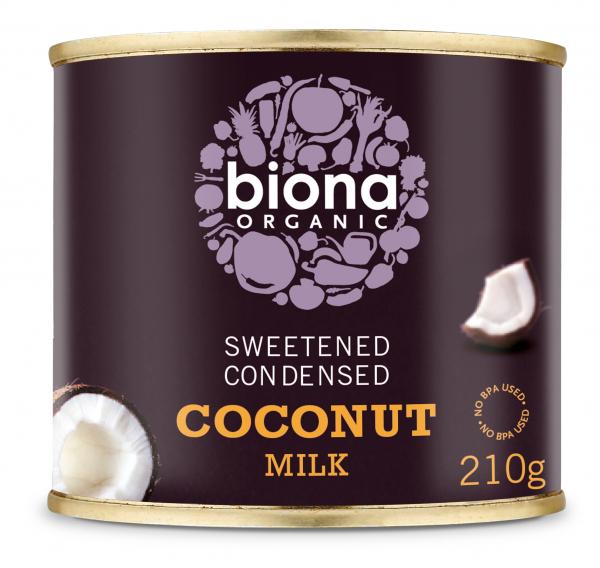 Lapte de cocos condensat bio 210g Biona 0