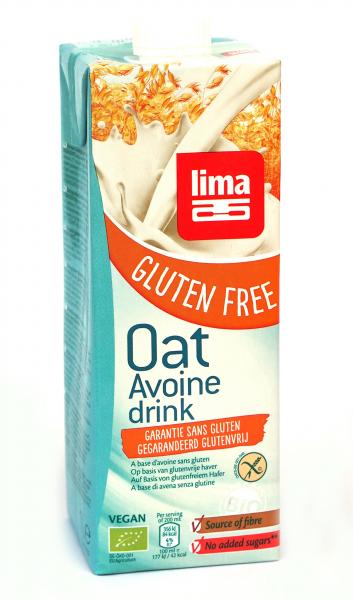 Bautura vegetala de ovaz fara gluten eco 1L Lima 0