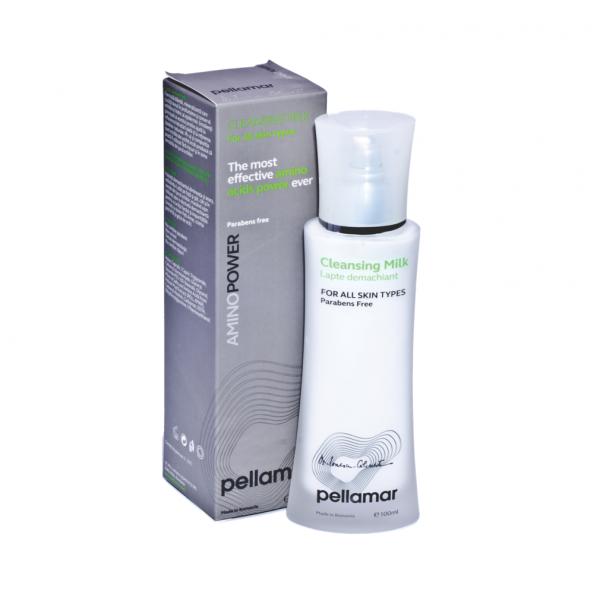 Lapte demachiant pentru toate tipurile de piele AminoPower, 100 ml, Pellamar [0]