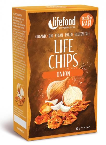 Life Chips din ceapa raw bio 40g 0