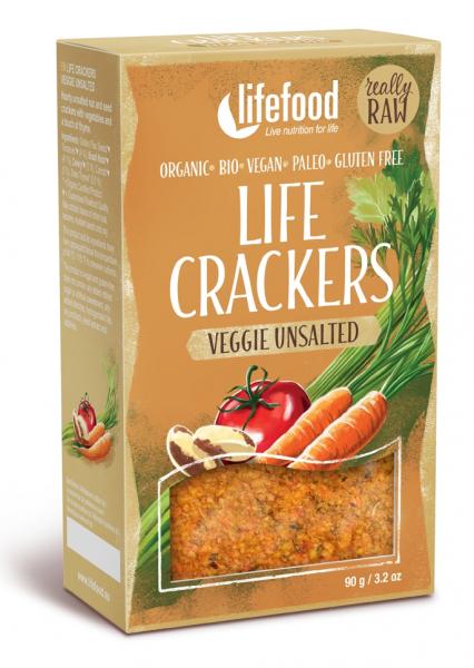 Life Crackers cu legume fara sare bio 90g 0