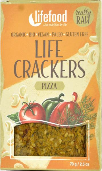 Life Crackers pizza raw bio 70g 0