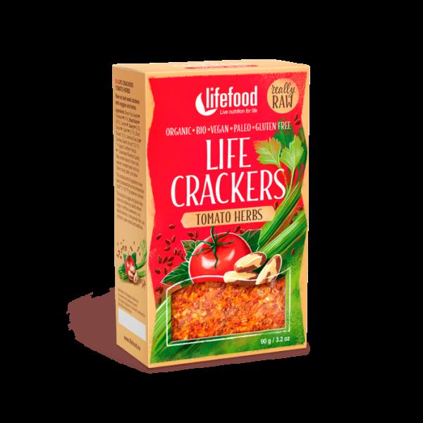 Life crackers raw cu rosii si ierburi bio 90g 0