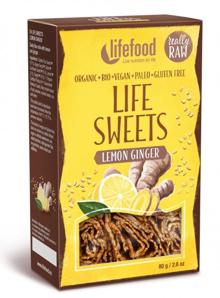 Life Sweets rulouri cu lamaie si ghimbir raw bio 80g 0
