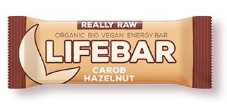 Lifebar baton cu alune si carob raw bio 47g 0