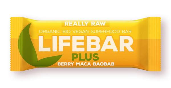Lifebar Plus baton cu fructe, maca si baobab raw bio 47g 0