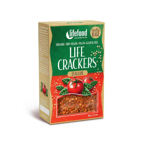 Lifecrackers italian raw  bio 90g 0