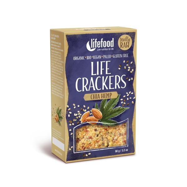 Lifecrackers raw cu seminte de chia si canepa bio 90g 0