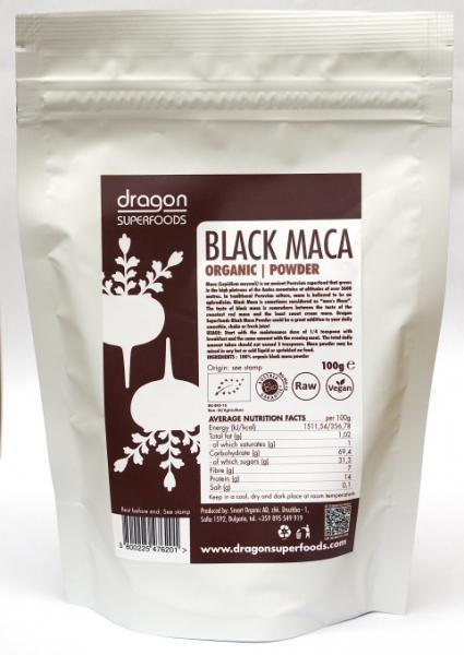 Maca neagra pudra raw bio 100g 0