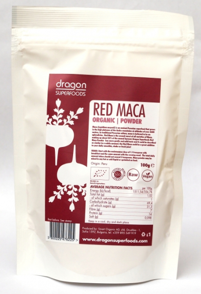 Maca rosie pudra raw bio 100g 0