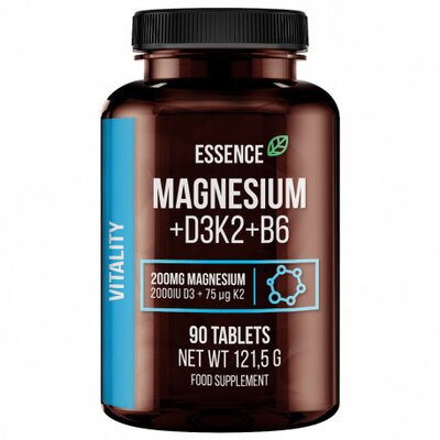 Magneziu + vitamina d3, k2 si b6, 90 tablete, Essence 0