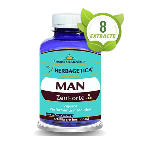 Man zen forte, 120 capsule, Herbagetica 0