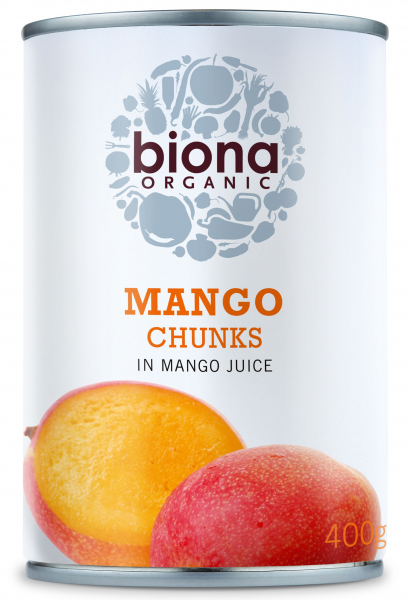 Mango bucati in suc de mango bio 400g Biona 0
