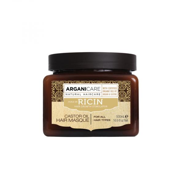 Masca reparatoare cu ulei de ricin pentru toate tipurile de par, Arganicare, 500 ml [0]