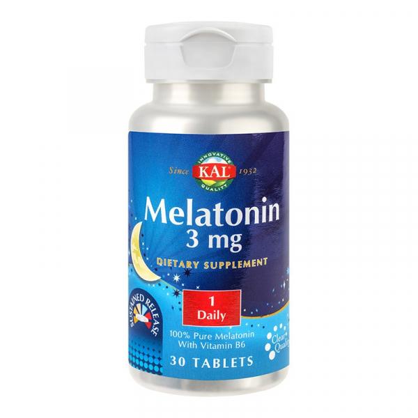 Melatonin 3 mg Kal, 30 tablete, Secom 0