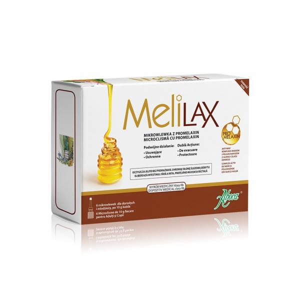 MeliLax microclisme adulți cu propolis, 6 bucăți, Aboca 0
