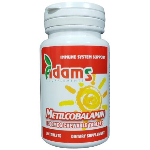 Metilcobalamin 1000mcg, 30 tabelete, Adams Vision 0
