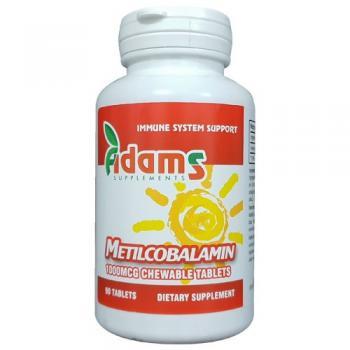 Metilcobalamin 1000mcg, 90 tablete, Adams Vision 0