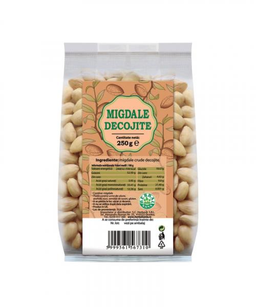 Migdale crude decojite,  250g, Herbavit 0